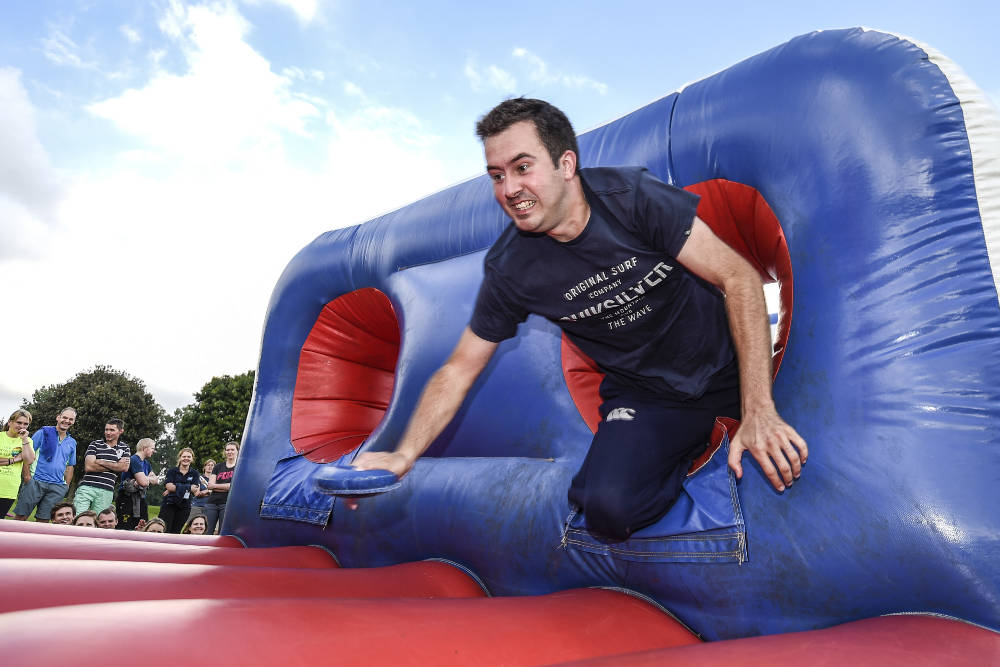 Inflatable Obstacle course finish