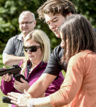 Air Rifle client & instructor