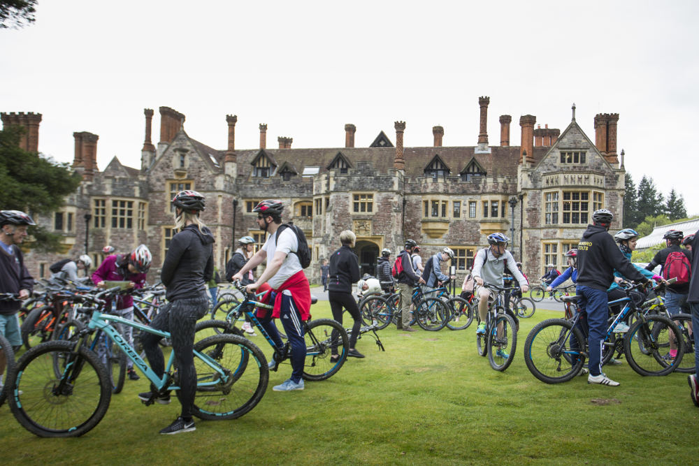 Bikes outside Rhinefield House