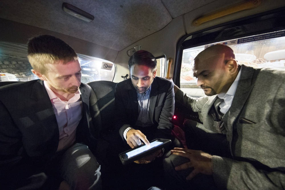 Black Cab clients tablet