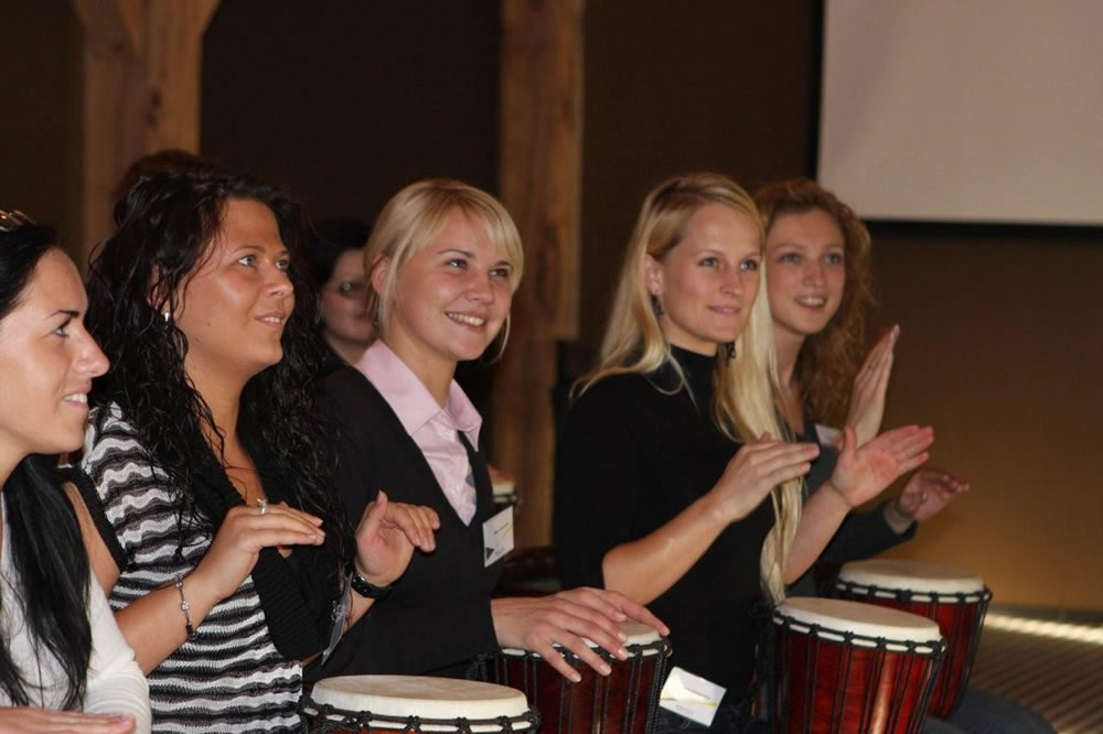 Drumming team