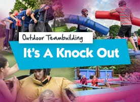 It's a Knockout outdoor team building activities